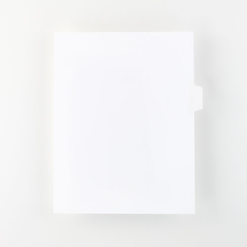 Plain Blank Legal Tabs