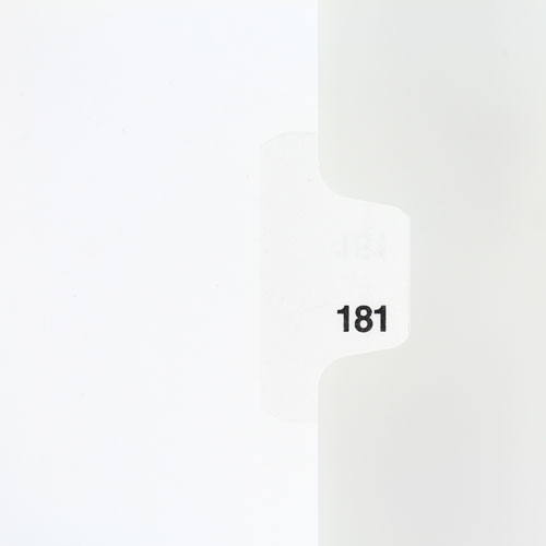 Avery Style Individual Index Tabs with Numbers on side tabs