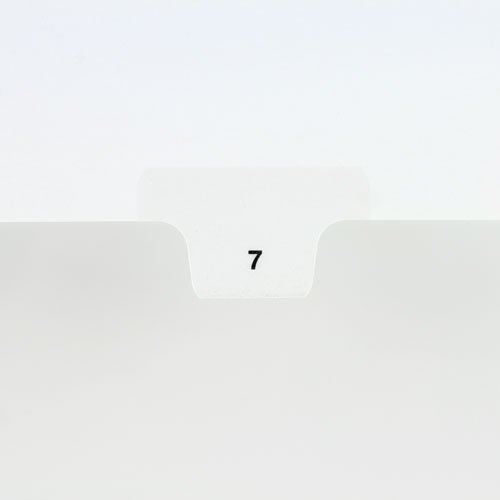 Avery Style Legal Index Bottom Tabs Printed with Numbers