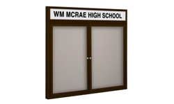 2-Door Outdoor Enclosed Vinyl Bulletin Boards