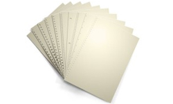 Cream Pre-Punched Binding Paper