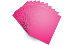 Fireball Fuchsia Pre-Punched Paper