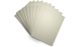 Gray Pre-Punched Binding Paper