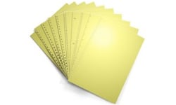 Pastel Yellow Pre-Punched Paper