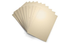 Tan Pre-Punched Binding Paper