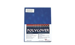 Holographic 3D Blue Poly Binding Covers