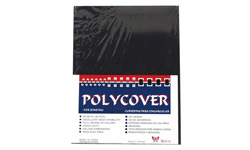 Black Leather Grain Poly Covers