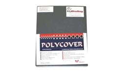 Dark Gray Leather Grain Poly Covers