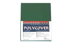 Dark Green Leather Grain Poly Covers