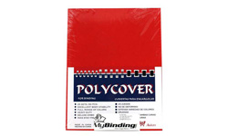 Red Leather Grain Poly Binding Covers