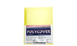 Yellow Leather Grain Poly Binding Covers