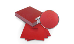 Red Regency Leatherette Binding Covers