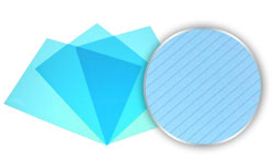 Transparent Blue Stripe Poly Covers