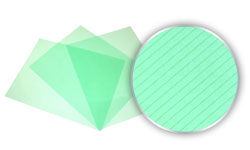 Transparent Green Stripe Poly Covers