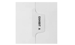 Avery Exhibit Individual Letters Legal Tabs