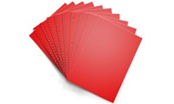 Re-Entry Red Pre-Punched Paper