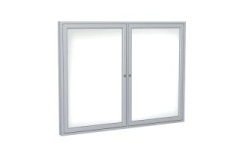 2-Door Indoor Enclosed Whiteboards