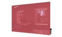Red Non-Magnetic Glass Whiteboards