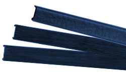Navy Blue Metal Binding Spines