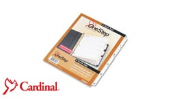 Cardinal White One Step Index Dividers