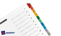 Avery Pre-Printed Dividers with 1-10 Tabs