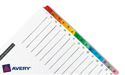 Avery Pre-Printed Dividers with 1-15 Tabs