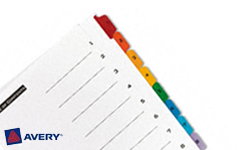 Avery Pre-Printed Dividers with 1-8 Tabs