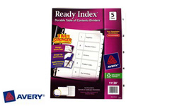 Avery Table of Contents Index Dividers