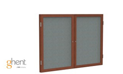 Ghent Indoor Enclosed Traditional Fabric Bulletin Boards