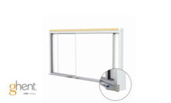 Ghent Duo Track Horizontal Sliding Whiteboard Panels