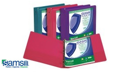 Samsill Clean Touch Antimicrobial View Binders