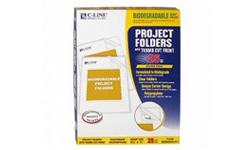 C-Line Biodegradable Project Folders