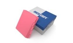 Cherry Colored Copier Tabs