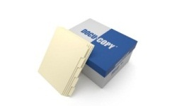 Ivory Colored Copier Tabs