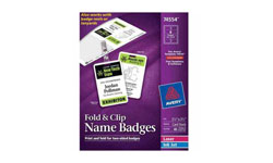 Fold and Clip Name Badges