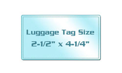 Luggage Tag Size Colored Back Laminating Pouches