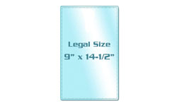 Legal Size Sticky Back Laminating Pouches
