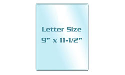 Letter Size Colored Back Laminating Pouches