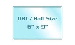 OBT / Half Size Matte Laminating Pouches