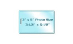 "3"" x 5"" Photo Size Laminating Pouches with Slot"
