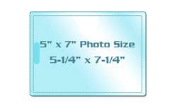 """5"""" x 7"""" Photo Size Laminating Pouches with Slot"""