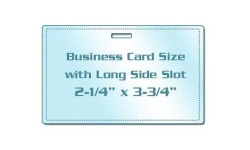 Business Card Size Laminating Pouches with Slot