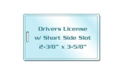 Drivers License Size Laminating Pouches with Slot