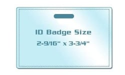ID Badge Size Laminating Pouches with Slot