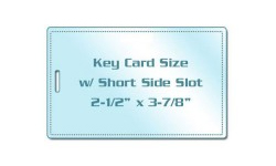 Key Card Size Laminating Pouches with Slot