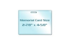 Memorial Card Size Laminating Pouches with Slot