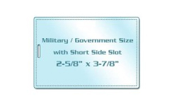Military / Government Size Laminating Pouches with Slot
