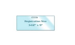 Registration Card Size Laminating Pouches with Slot