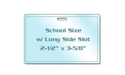 School Size Laminating Pouches with Slot