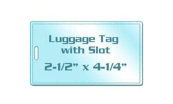 Luggage Tag Size with Slot Laminating Pouches